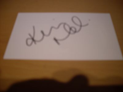 signed card of ex westham bolton newcastle utd footballer kevin nolan