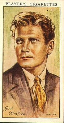 players cigarette card .film stars : joel mc.crea