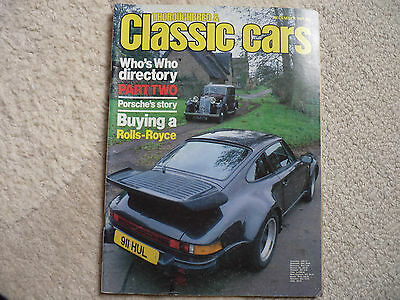 THOROUGHBRED & CLASSIC CARS, DEC 1981: inc DIRECTORY OF SPECIALIST FIRMS Pt 2