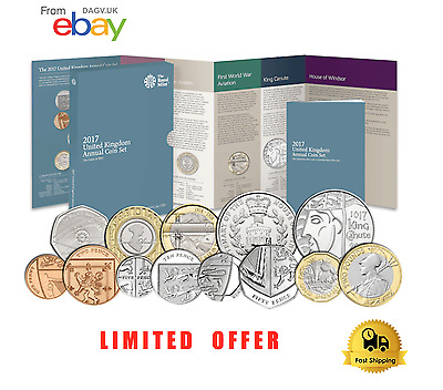 2017 Coin Set All Coins Included Brilliant Uncirculated RARE - LIMITED STOCKS L1