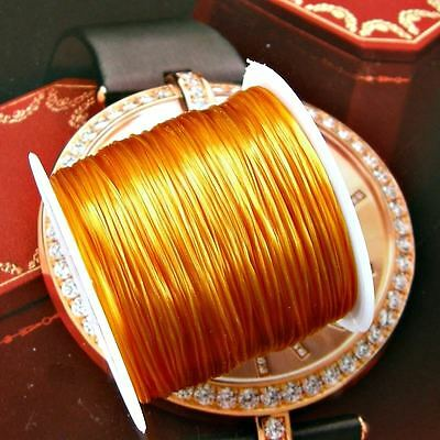 80 Meters Gold Stretch Elastic Bead cord Jewellery Making for Bracelet Crafts :
