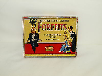 1950s VINTAGE CARD GAME  'FORFEITS' A Merit Game by J & L Randall Ltd