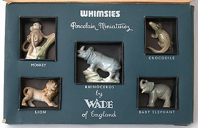 Wade First Whimsies Set Four: African Jungle Animals 1955-58 * BOXED *