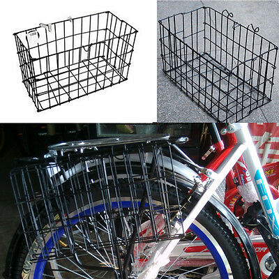 Black Bicycle Rear Folding Basket Bike Grocery Exquisite Wire Mesh Baskets Hot