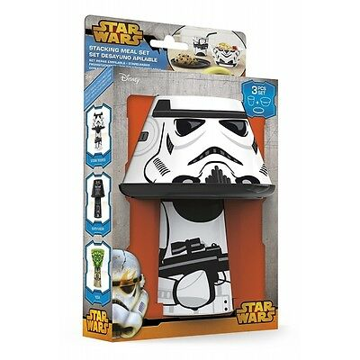 Storm Trooper (Star Wars) Stacking Meal Set  Brand New