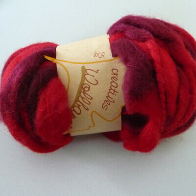 Decor Wool band Wool cord Ball of wool Wool ideal for Frisk berry red 50g/16m
