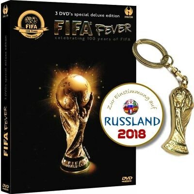 Hammerpaket: FIFA Fever - 3 DVD Box Fußball WM-Highlights + World Cup Keychains