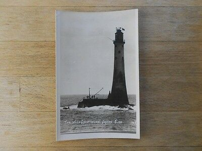 Old postcard Wolf Lighthouse, Lands End, RP, circa 1930s? Cornwall