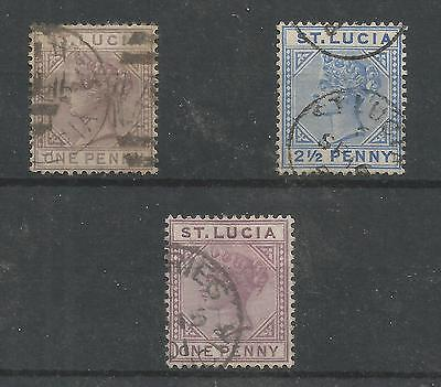 Arcade 99p St.Lucia 3 x Victorian Used Issues