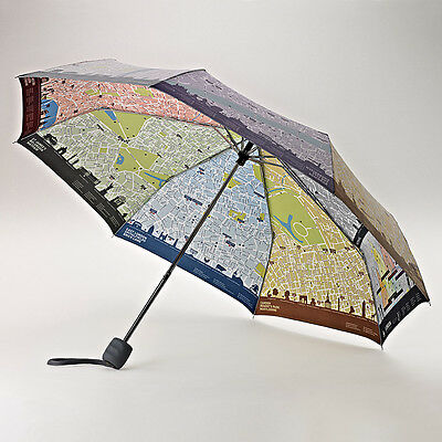 Fulton Brollymap Minilite Unisex Manual Folding Umbrella - Map of London