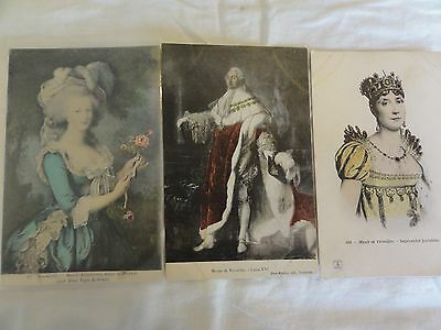 FRENCH ROYALTY.  Empress Josephine, Marie Antoinette and Louis XVI   Group of 3!