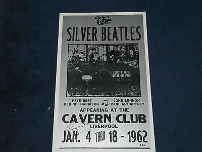 Pete Best The Beatles Signed Lithograph Poster