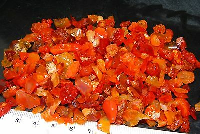 Nice Rough Mexican Fire Opal Chips/Small Pieces 354cts Crystal, Beads, Cabs NR