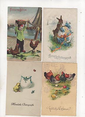 Lot of 48 Vintage Greetings Postcards Easter Ostern Paques