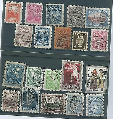 Latvia Used/cto Stamp Collection