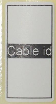 White 50x Cable id Labels Self Adhesive Sticky Identification Sticker Networking