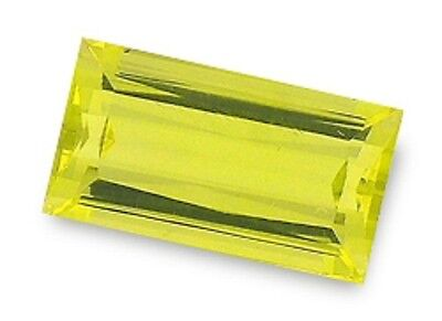 Best Greenish Yellow PRASIOLITE Baguette Cut 17x9.5 mm