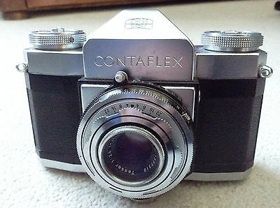 ZEISS IKON 'CONTAFLEX' CAMERA WITH 45mm TESSAR LENS with Leather Case