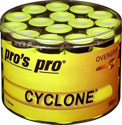 60 Pros Pro CYCLONE Overgrips / Over-Grip Tape / Grips / Griffband in lime-gelb