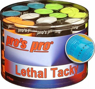 60 Pros Pro Lethal Tacky Overgrips (Griffband gelocht & strukturiert, mixed/bunt