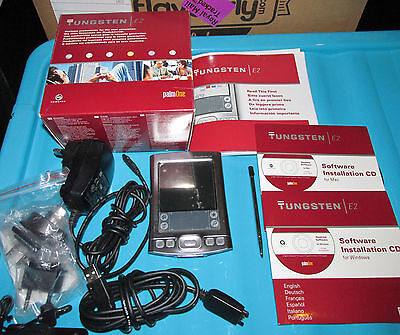 Palm Tungsten E2 PDA boxed with accessories and software