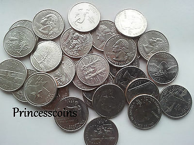 Selection Of 1999-2009 N To W Us State Quarters / 25 Cents Coins