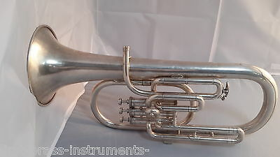 Interesting UK Built Salvation Army Tenor Horn In  Good Condition