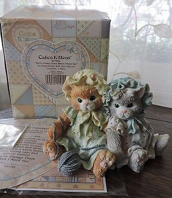 Calico Kittens You're Always There When I Need You Figurine Enesco 627992 NEW