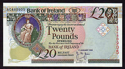 Choice 1999  £20  BANK OF IRELAND  UNC