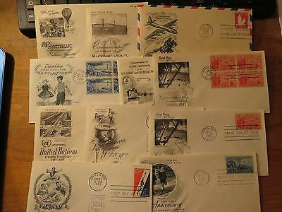 1950s USA  First Day Of Issue Covers Lot 11 pieces
