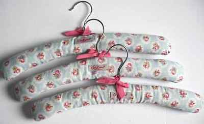 3 Lovely Cath Kidston Classic Floral Pattern Padded Coat Hangers *gr8 Condition*