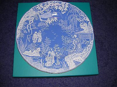 """Royal Crown Derby ~ New Mikado Design ~ 10.5"""" Plate ~ Boxed"""