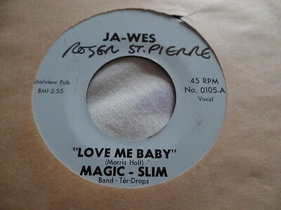 Magic Slim Scuffling / Love Me (My) Baby Rare USA Chicago Blues Ja-Wes Label