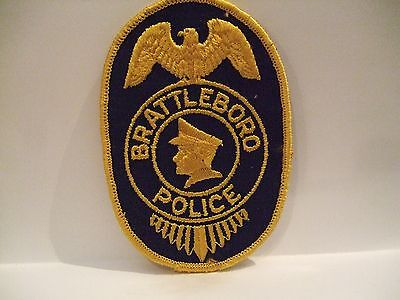 police patch   BRATTLEBORO POLICE VERMONT