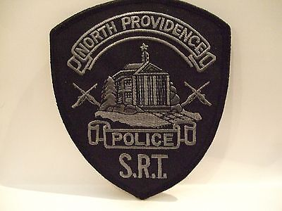 police patch  NORTH PROVIDENCE POLICE RHODE ISLAND  S.R.T. SUBDUED