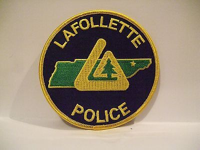 police patch    LAFOLLETTE POLICE  TENNESSEE