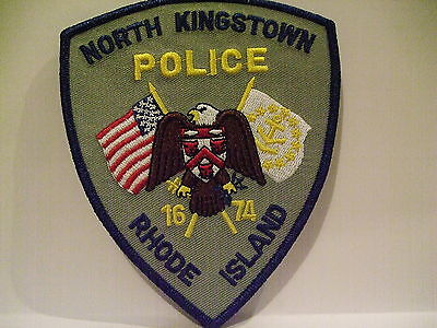 police patch  NORTH KINGSTON POLICE RHODE ISLAND