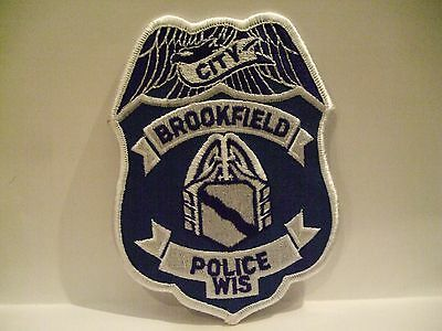 police patch   BROOKFIELD POLICE WISCONSIN