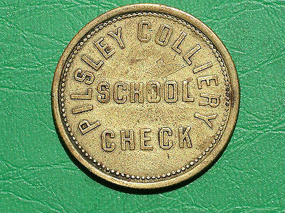 Rare Pilsley Colliery 4d school check c1880 brass token coal miners pit mining
