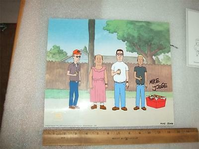 king of the Hill Serigraph cel Sericel Hand Signed Mike Judge Fox Seal Hank Hill