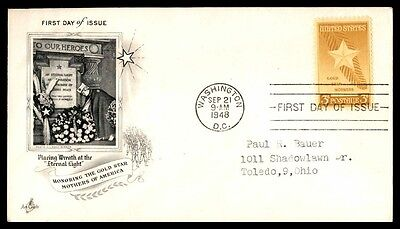 Wa Dc 1948 Honoring The Gold Star Mothers Of America Artmaster Cachet On Fdc
