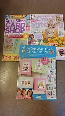World Of Cross Stitching 2 Magazine Lot