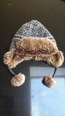 Cute Boys Monsoon Aviator / Trapper Style Hat 3-6 Years. EX CONDITION