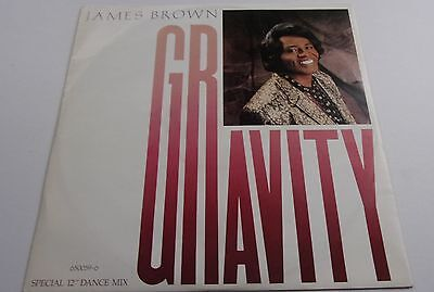 JAMES BROWN GRAVITY  c/w dub mix & THE BIG G  DIG THIS MESS SCOTTI BROTHERS 1986