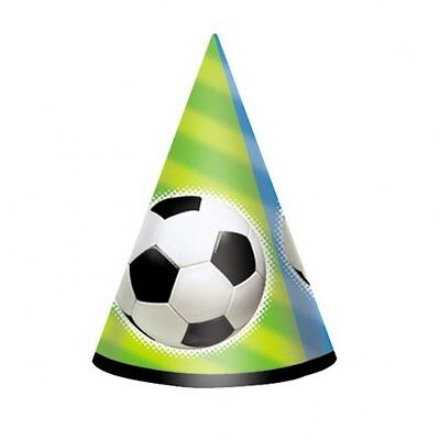96 x SOCCER FOOTBALL CONE HATS PARTY WHOLESALE JOB LOTS SHOP £ POUND MARKETS