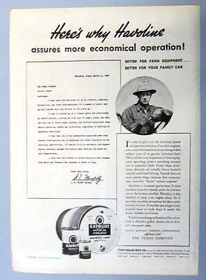 Dated Original 1939 Texaco Ad Photo endorsed G E Mike Murphy of Perryton, Texas