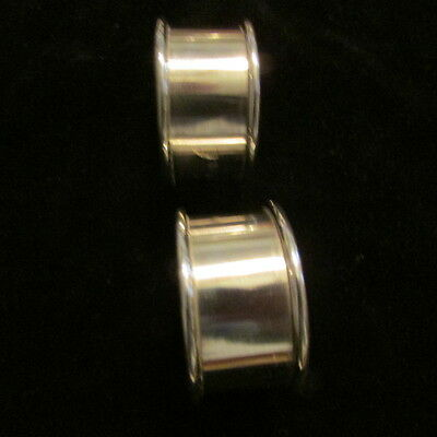 Mid Century Modern Sterling Silver Napkin Rings