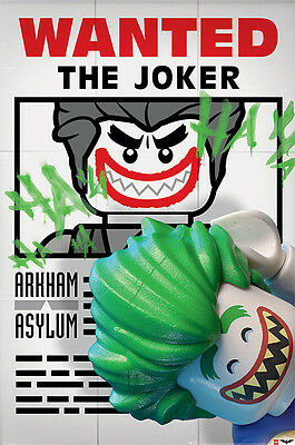 Lego Batman Movie Poster - WANTED THE JOKER - New Lego Movie poster PP34032