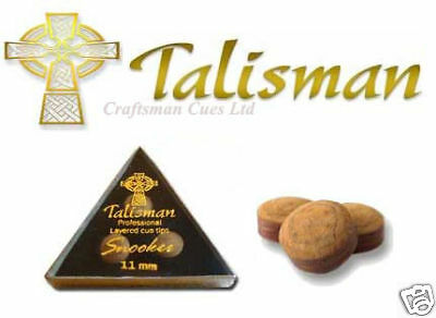 3 x TALISMAN SOFT LAMINATED PRO SNOOKER CUE TIPS 10mm