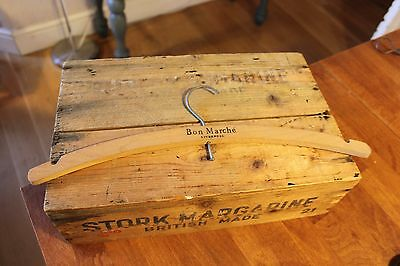 Vintage Wooden Advertising Coat Hanger – Bon Marche Liverpool – Great! –